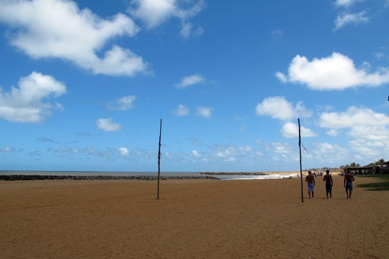 Praia central de Conceição da Barra/ES