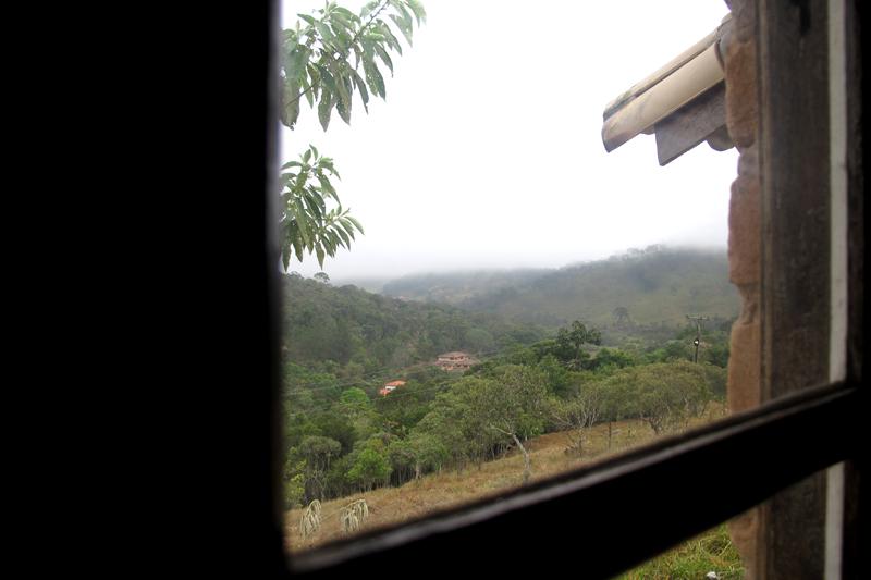 Vista da janela da pousada