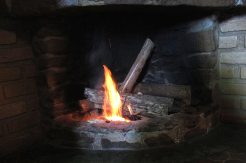 Curtindo o frio com lareira <3