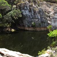 Poço do Pulo, a marca na rocha mostra como estava vazio...