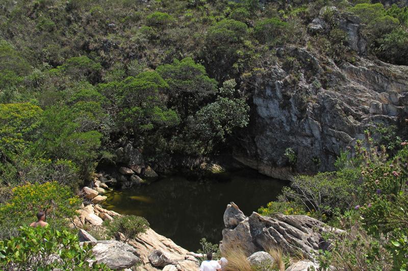 Poço do Pulo no córrego Boqueirão