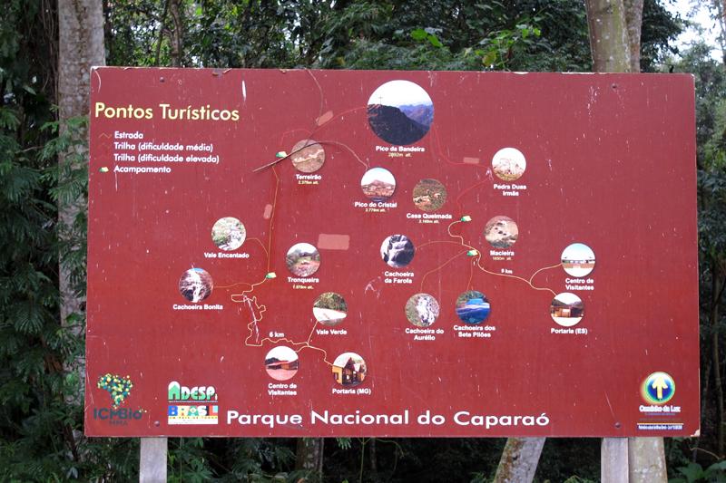Mapa do Parque do Caparaó