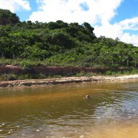 Rio da praia de Pitinga