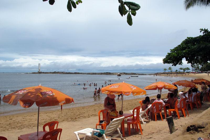 Praia da Concha, no centro de Itacaré