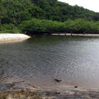 Rio da praia de Jeribucaçu