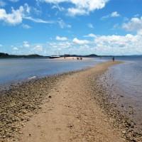 O caminho de volta com a maré mais baixa