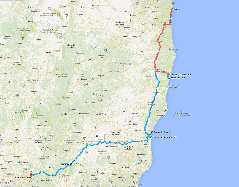 Estrada para Itacaré