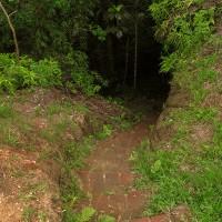 Detalhe pra entrada da trilha que ia até a parte de baixo da Cascata do Paulista :O