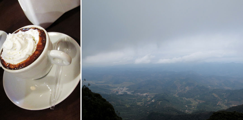 Lugares românticos perto de BH: Chocolate quente e vista da cidade de Caparaó.