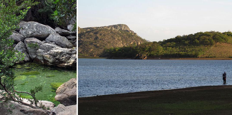 Lugares românticos perto de BH: Lagoa e cachoeira em Lapinha da Serra