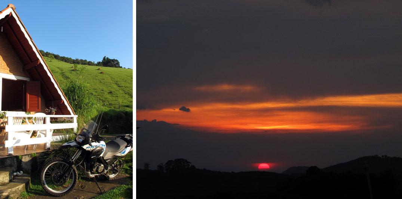 Lugares românticos perto de BH: Pousada e por do sol em Monte Verde