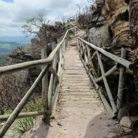 Subida para a Capela do Senhor do Bonfim em Morro Redondo