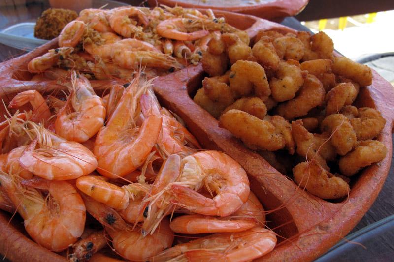 sequência de camarão