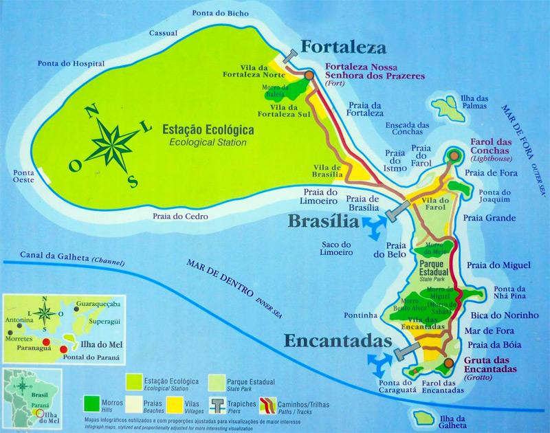 Mapa da ilha do mel