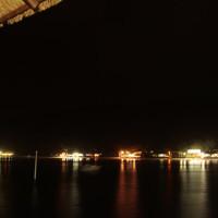 Vista da ilha a noite