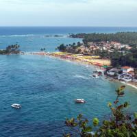 Vista do Mirante mostrando a primeira e segunda praia