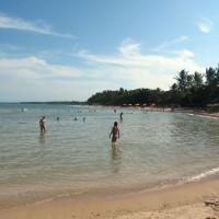 Terceira praia com maré cheia