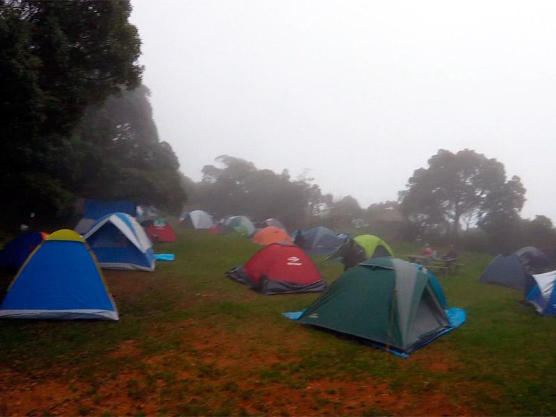 área de camping na Tronqueira, no Pico da Bandeira