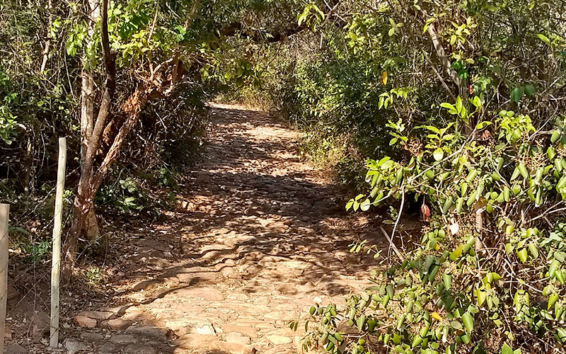 entrada para a trilha dos escrav/os, serra do cipó
