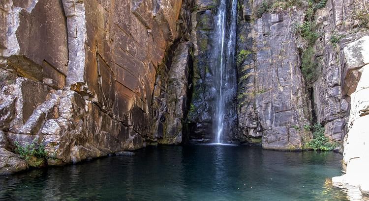 Cachoeira serra morena, na serra do cipó